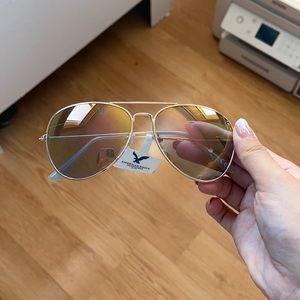 Light blue aviator sunglasses